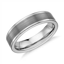Satin Finish Wedding Ring in Gray Tungsten Carbide (6mm)   Blue Nile