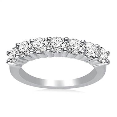 Seven Stone Ladies Diamond Band in Platinum