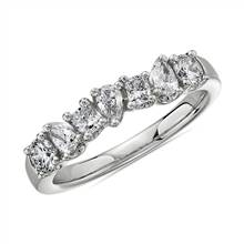Seven Stone Mixed Shape Fancy Diamond Ring in 14k White Gold (3/4 ct. tw.) | Blue Nile