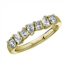 Seven Stone Mixed Shape Fancy Diamond Ring in 14k Yellow Gold (3/4 ct. tw.) | Blue Nile