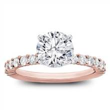 Shared Prong Diamond Engagement Setting | Adiamor