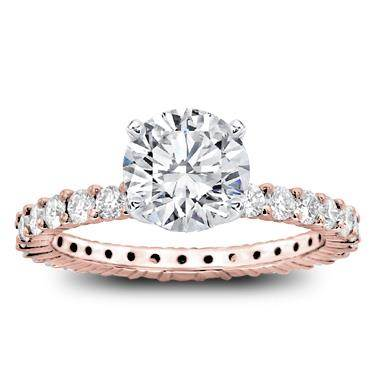Shared Prong Diamond Eternity Band Setting 1cttw