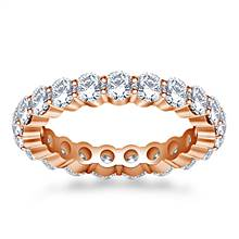 Shared Prong Set Round Diamond Ring in 18K Rose Gold (1.90 - 2.30 cttw.) | B2C Jewels