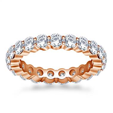 Shared Prong Set Round Diamond Ring in 18K Rose Gold (1.90 - 2.30 cttw.)