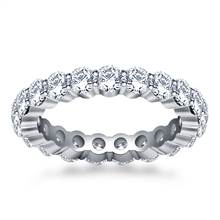 Shared Prong Set Round Diamond Ring in 18K White Gold (1.90 - 2.30 cttw.) | B2C Jewels