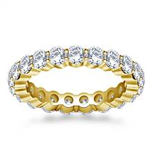 Shared Prong Set Round Diamond Ring in 18K Yellow Gold (1.90 - 2.30 cttw.) | B2C Jewels