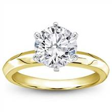 Six-Prong Knife Edge Solitaire for Round Diamond | Adiamor