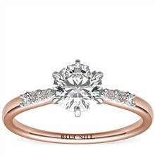 Six-Prong Petite Diamond Engagement Ring in 14k Rose Gold (1/10 ct. tw.) | Blue Nile