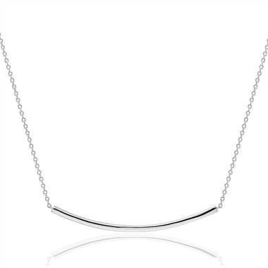 Smile Bar Necklace in Sterling Silver