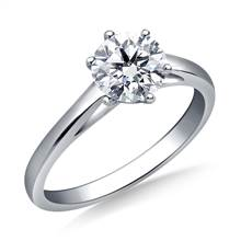 Solitaire Cathedral Engagement Ring Mounting in 18K White Gold | B2C Jewels