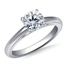 Solitaire Cathedral Engagement Ring Mounting Low Dome in 18K White Gold (2.0 mm) | B2C Jewels