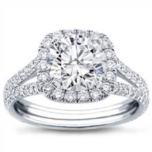Split Shank Halo Setting for Cushion Cut Diamond | Adiamor