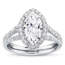 Split Shank Halo Setting for Marquise Cut Diamond   Adiamor