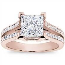 Split Shank Pave Setting for Princess Cut Diamond | Adiamor