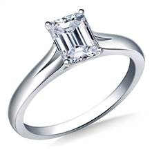Split Shank Solitaire Engagement Ring in 18K White Gold (2.3 mm) | B2C Jewels
