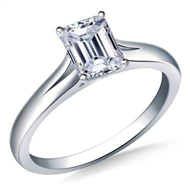 Split Shank Solitaire Engagement Ring in Platinum (2.3 mm)