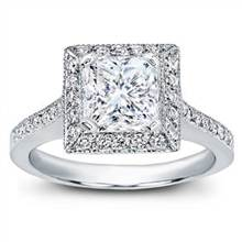 Square Halo Pave-Set Engagement Ring | Adiamor