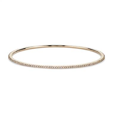 Stackable Pave Diamond Bangle in 18k Yellow Gold (1 ct. tw.)