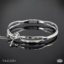 Sterling Silver with 18k Yellow Gold Accent Tacori SB177-M Sterling Silver Promise Bracelet | Whiteflash