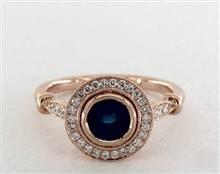 Stunning Milgrain Bezel Halo Engagement Ring in 4mm 14K Rose Gold (Setting Price) | James Allen