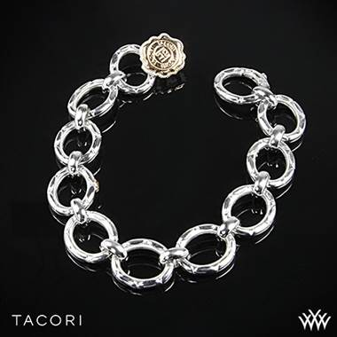 Tacori SB102P Lilac Blossoms Link Bracelet in Sterling Silver with 18k Rose Gold Accents