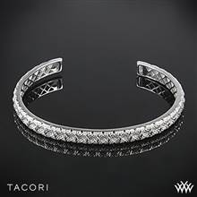 Tacori SB107Y Classic Rock Small Cuff in Sterling Silver with 18k Yellow Gold Accents | Whiteflash