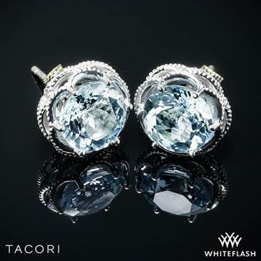 Tacori SE10502 Island Rains Sky Blue Topaz Earrings in Sterling Silver with 18k Yellow Gold Accents