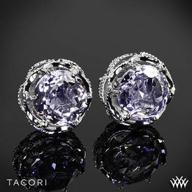 Tacori SE10513 Blushing Rose Amethyst Earrings in Sterling Silver with 18k Rose Gold Accents