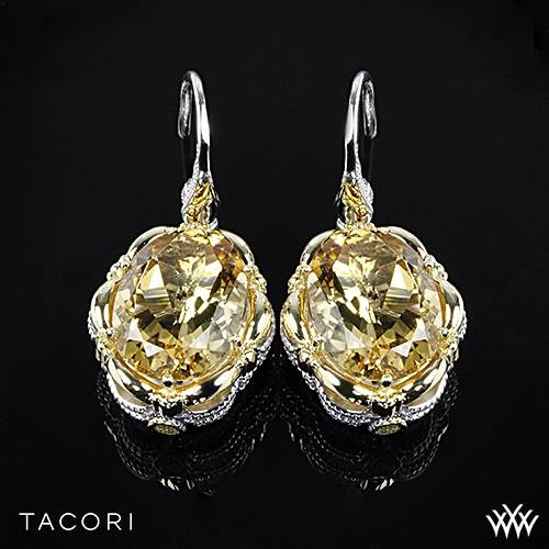Tacori SE134Y04 Color Medley Citrine Dangle Earrings in Sterling Silver with 18K Yellow Gold Accents