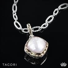 Tacori SN113P25 Blushing Rose Clear Quartz over Pink Mother of Pearl Enhancer in Sterling Silver with 18K Yellow Gold Accents - Pendant Only | Whiteflash
