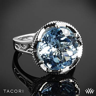Tacori SR12302 Island Rains Sky Blue Topaz Ring in Sterling Silver with 18k Yellow Gold Accents