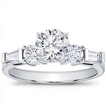 Tapered Baguette and Round Diamond Setting | Adiamor