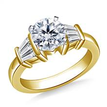 Tapered Baguette Diamond Engagement Ring in 14K Yellow Gold (1/2 cttw.) | B2C Jewels