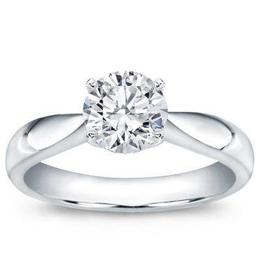 Tapered Solitaire Engagement Setting