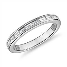 The Gallery Collection™ Baguette-Cut Diamond Eternity Ring in Platinum (1 1/10ct. tw.) | Blue Nile