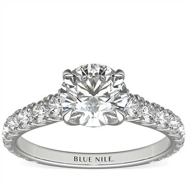 The Gallery Collection™ Cathedral Pave Diamond Engagement Ring in Platinum (5/8 ct. tw.)