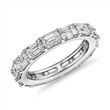 The Gallery Collection™ East-West Emerald Cut Diamond Eternity Ring in Platinum (4.5 ct. tw.)   Blue Nile