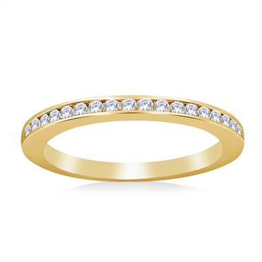 Thin Channel Set Diamond Band in 14K Yellow Gold (1/6 cttw.)