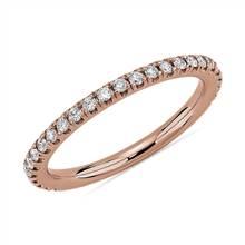 Three Quarter Pave Diamond Wedding Ring in 14k Rose Gold (1/4 ct. tw.) | Blue Nile