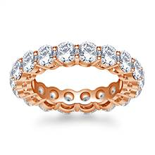 Timeless Prong Set Round Diamond Eternity Ring in 18K Rose Gold (3.40 - 4.00 cttw.) | B2C Jewels