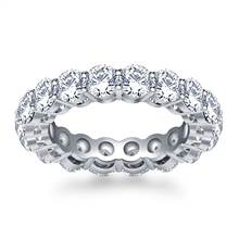 Timeless Prong Set Round Diamond Eternity Ring in 18K White Gold (3.40 - 4.00 cttw.) | B2C Jewels