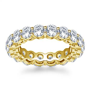 Timeless Prong Set Round Diamond Eternity Ring in 18K Yellow Gold (3.40 - 4.00 cttw.)