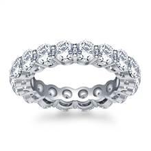 Timeless Prong Set Round Diamond Eternity Ring in Platinum (3.40 - 4.00 cttw.) | B2C Jewels