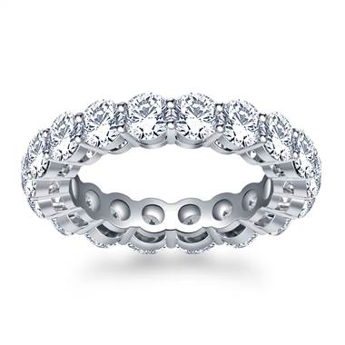Timeless Prong Set Round Diamond Eternity Ring in Platinum (3.40 - 4.00 cttw.)