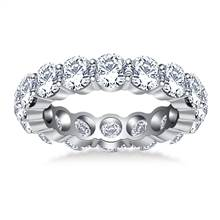 Timeless Round Diamond Decorated Eternity Ring in 14K White Gold (4.50 - 5.10 cttw.) | B2C Jewels