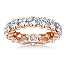 Timeless Round Diamond Decorated Eternity Ring in 18K Rose Gold (4.50 - 5.10 cttw.) | B2C Jewels