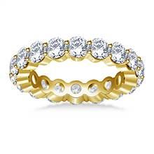 Traditional Prong Set Round Diamond Eternity Ring in 14K Yellow Gold (2.70 -3.00 cttw.) | B2C Jewels