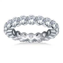 Traditional Prong Set Round Diamond Eternity Ring in 18K White Gold (2.70 -3.00 cttw.) | B2C Jewels