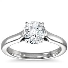 Trellis Solitaire Engagement Ring in Platinum   Blue Nile