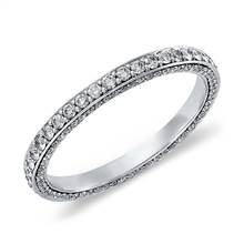 Trio Micropave Diamond Eternity Ring in Platinum (4/5 ct. tw.) | Blue Nile